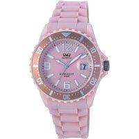Ručičkové náramkové hodinky Carlton Quartz, silikonový pásek, světle růžová