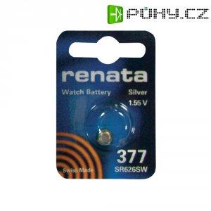 Knoflíková baterie na bázi oxidu stříbra Renata SR66, velikost 377, 24 mAh, 1,55 V