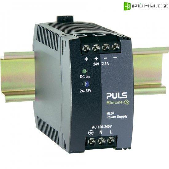 Zdroj na DIN lištu PULS MiniLine ML60.242, 2,5 A, 24 V/DC - Kliknutím na obrázek zavřete