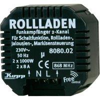 Bezdrátový spínač pro rolety a markýzy FreeControl, 808002028, 2kanálový, 1000 W