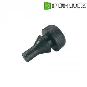 Tlumicí přístrojová nožička se západkou PB Fastener 1245-01, (Ø x v) 4.8 mm x 8.2 mm, černá, 1 ks