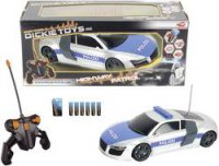 RC model Dickie Toys Highway Patrol Audi R8, 1 :16, RtR