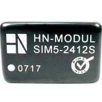 DC/DC měnič HN Power SIM5-1212D, vstup 12 V, výstup ± 12 V, ± 125 mA, 3 W