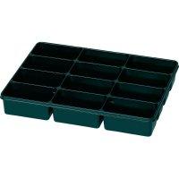 Plastová krabička na malé součástky 815351, přihrádek: 12, 335 x 235 x 50 , černá