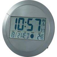 Digitální nástěnné DCF hodiny, 25 x 245 x 245 mm, antracit