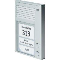 Domácí telefon Auerswald TFS-Dialog 102, 90618, 2 rodiny, stříbrná