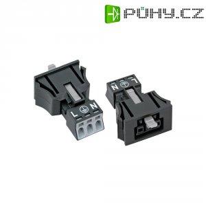 Síťová zásuvka Wago Winsta Mini, 250 V, 16 A, 3pólová, černá, 890-703