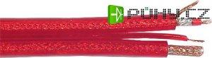 Kabel stíněný 2x6mm+ovládání, červený