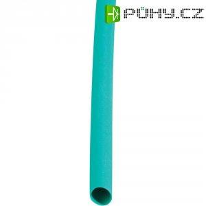 Smršťovací bužírka 12,8 mm/6,4 mm - zelená, sada 10 ks
