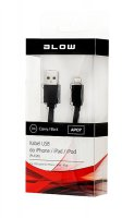 Kabel pro iPhone 5/6/iPad Air/iPad Mini/iPad Retina/iPod, černý, plochý 1m