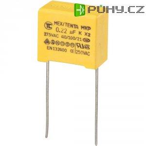 Foliový kondenzátor MKP, 0,22 µF, X2 275 V/AC, 10 %, 18 x 10 x 16 mm