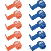 Sada rychlospojek kabelů, 0,5 - 1,5 mm², modrá/červená, 10 ks
