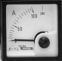 Analogové panelové měřidlo Weigel EQ72K 100/5A 100 A/AC (5A)