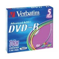 Verbatim DVD-R 4,7GB 16X 5 ks SC COLOR