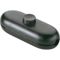 Šňůrový vypínač interBär , 1pólový, 250 V/AC, 2 A, bílá/černá
