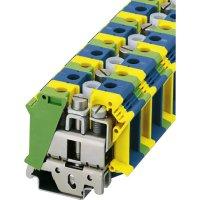 PE/N blok Phoenix Contact UIK 35-PE/N (3006195), šroubovací, 30,4 mm, zelenožlutá/modrá