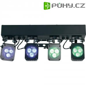 Sada 4 LED reflektorů se stativem Mc Crypt Premium LumiClub, Multicolor