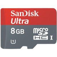Pamětová karta mikroSD SANDISK8 GB, Class 10, SD adaptér