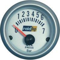 Palubní tlakoměr oleje Raid Hp Silber-Serie, 660219