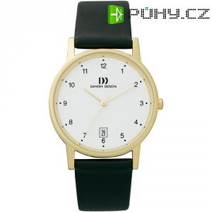 Ručičkové náramkové hodinky Danish Design, 3316110, kožený pásek