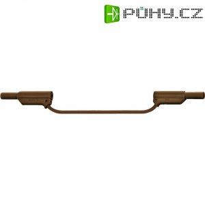 Měřicí silikonový kabel banánek 4 mm ⇔ banánek 4 mm MultiContact XVS-4075, 0,25 m, hnědá