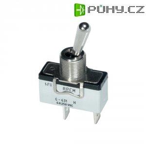 Páčkový spínač APEM 6-631H/2 / 6311074, 250 V/AC, 6 A, 1x vyp/zap, 1 ks