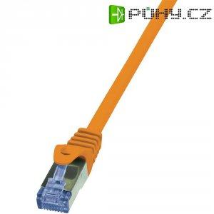 Patch kabel LogiLink CAT6A S/FTP, oranžová, 5 m