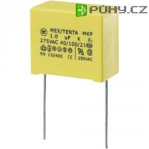 Foliový kondenzátor MKP, 1 µF, X2 275 V/AC, 10 %, 26,5 x 14 x 20 mm