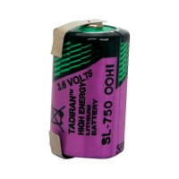 Lithiová baterie Tadiran SL-750/T, typ 1/2 AA, s pájecímikontakty