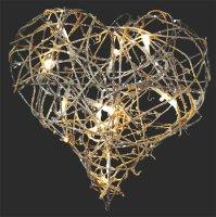 Vánoční osvětlení - srdce IP20 teplá bílá,10LED