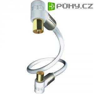 Anténní kabel zásuvka ⇔ vidlice, 75 ?, > 100 dB, 3 m, bílý, Inakustik