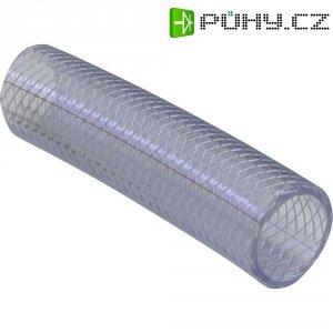 Hadice z PVC vyztužená tkaninou, Ø 6,1 mm, transparentní