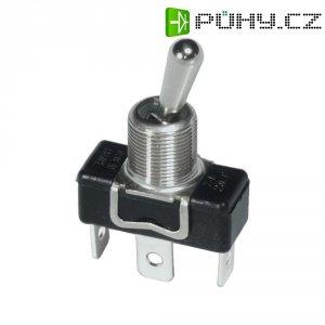 Páčkový spínač s kovovou páčkou APEM 1019 / 10190000, 250 V/AC, 3 A, 1x zap/vyp/zap, 1 ks