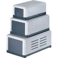 Dvoudílné plastové pouzdro Strapubox, (d x š x v) 160 x 90 x 65 mm, šedá (KG 310)