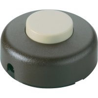 Nášlapný vypínač interBär, 1pólový, 250 V/AC, 2 A, hnědá/béžová