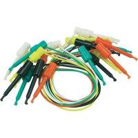 Sada měřicích kabelů svorka s háčkem ⇔ svorka s háčkem Voltcraft, 58 mm, 10 ks
