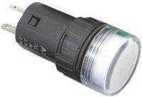 Kontrolka 24V LED 19mm, bílá