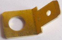 Faston-konektor 6,3mm s dírou M5, úhlový-45°