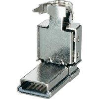 Mini USB konektor BKL Electronic 10120235, zástrčka zahnutá
