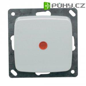 Vypínač s kontrolkou Monte, 102006, 10 A, 230 V, plast, bílá