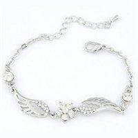 Šperk náramek Andělská křídla - stříbrná barva