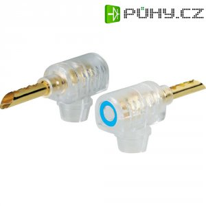 Banánkový konektor zástrčka, zahnutá Ø pin: 4 mm modrá BKL Electronic 106000 1 ks