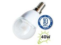 Žárovka LED G45 E14 5W bílá teplá (Pc), čirá