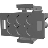 Pouzdro kolíkové Universal Mate-N-Lok TE Connectivity 1-480704-0, zástrčka rovná, přírodní