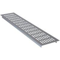 Hliníková mřížka Wallair N35847, 480 x 100 x 16 mm, stříbrná