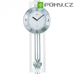 Quarz kyvadlové hodiny - pendlovky, 5084/0, 22 x 61 cm, dřevo, sklo, kov, stříbrná