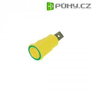Labor. zásuvka MultiContact 23.3150-20, vestavná vertik., Ø 4 mm, zelenožlutá