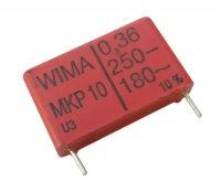Kondenzátor impulzní 360N/250V RM 22,5mm