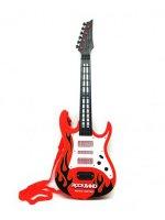 Kytara elektrická TEDDIES dětská červená