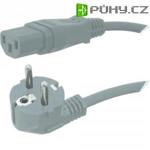 Síťový kabel s IEC zásuvkou HAWA 1008231, 2 m, šedá